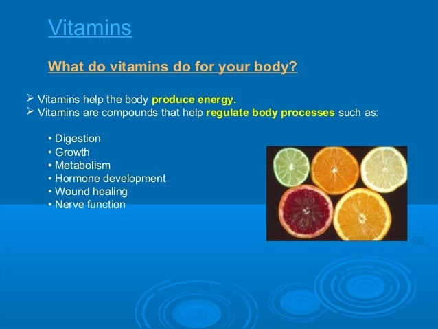 Nutrition Day 2 The 6 Essential Nutrients Continued