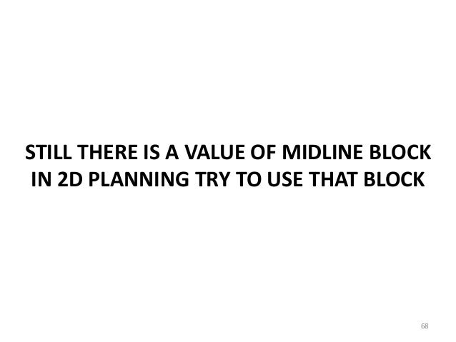 STILL THERE IS A VALUE OF MIDLINE BLOCK IN 2D PLANNING TRY TO USE THAT BLOCK 68