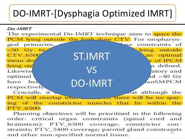 DO-IMRT-[Dysphagia Optimized IMRT] 81 ST.IMRT VS DO-IMRT