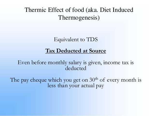 Diet induced thermogenesis