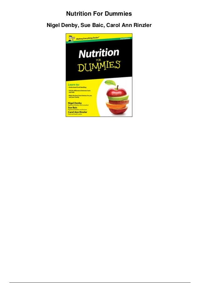 Pdf nutrition for dummies