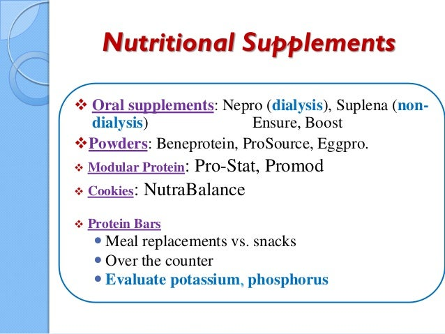 Nutritional Supplements ...