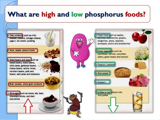 High Calcium Low Phosphate Foods
