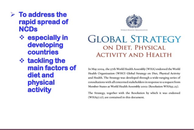 The Global Strategy on Diet, Physical Activity & Health: 10 Years On