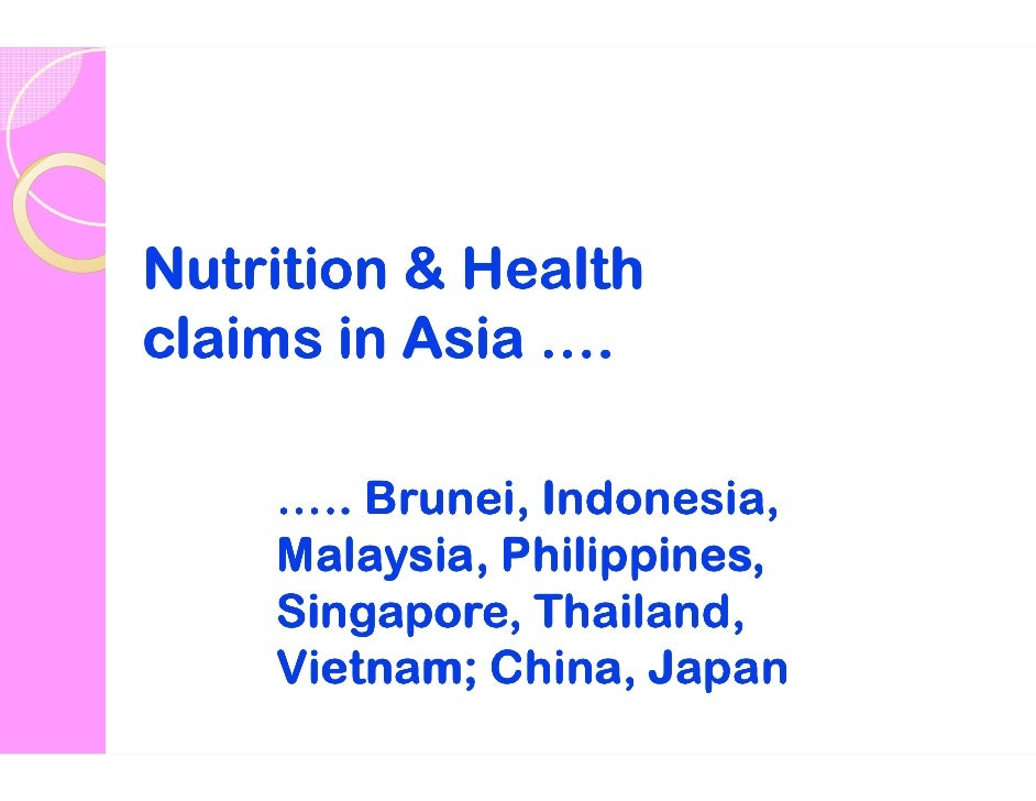 Nutrition and sanitation in asia