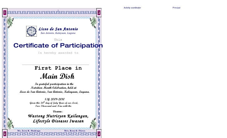 Nutrition Month Certification Dalawahan