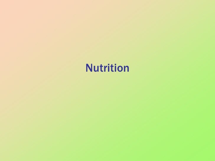 Nutrition<br />