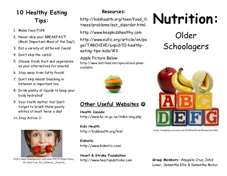 Nutrition pamphlet