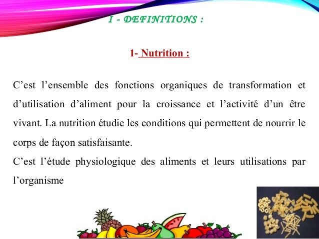 Nutrition  Slide 2