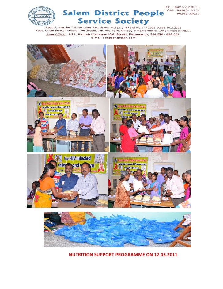 NUTRITION SUPPORT PROGRAMME ON 12.03.2011