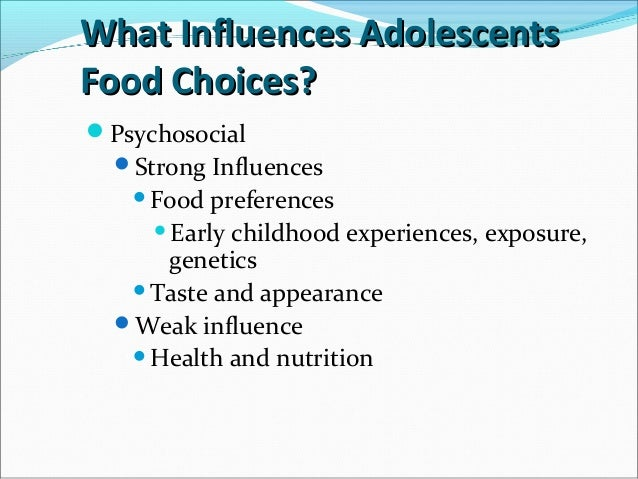 Nutrition throughout Adolescence