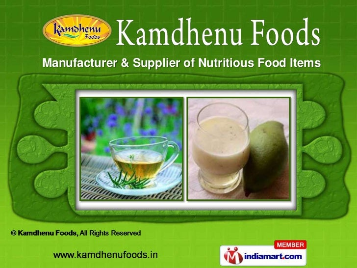 Manufacturer & Supplier of Nutritious Food Items