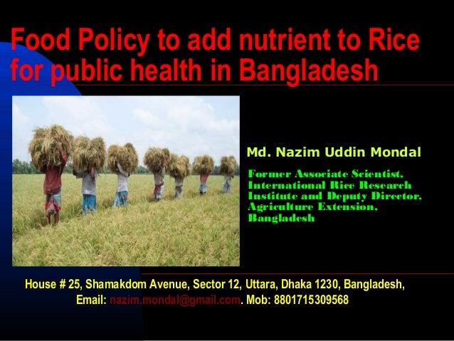 Policies in Bangladesh