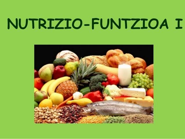 NUTRIZIO-FUNTZIOA I