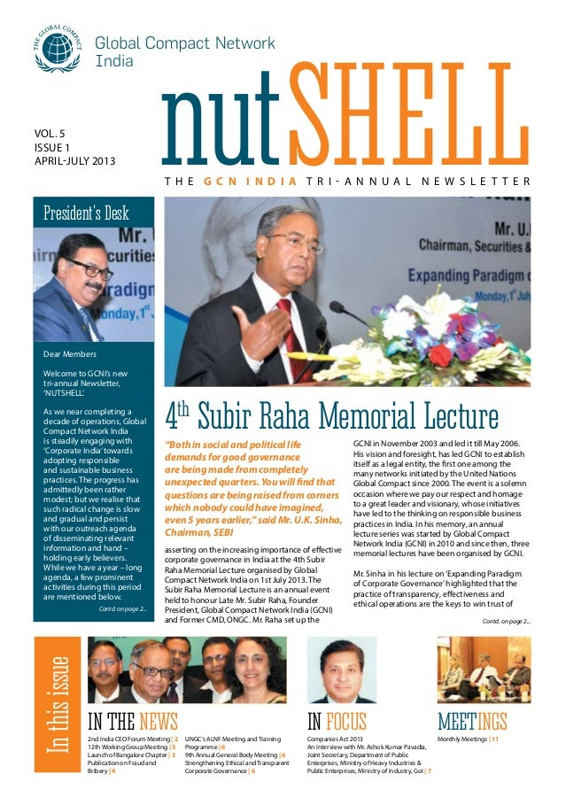asserting on the increasing importance of effective corporate governance in India at the 4th Subir Raha Memorial Lecture o...