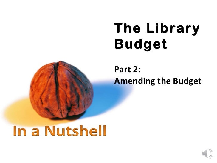 The Library Budget Part 2: Amending the Budget