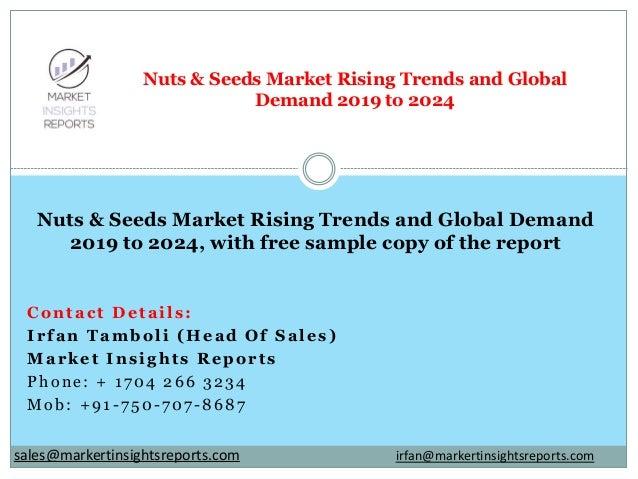 Contact Details: Irfan Tamboli (Head Of Sales) Market Insights Reports Phone: + 1704 266 3234 Mob: +91-750-707-8687 Nuts &...