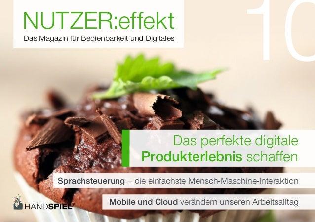 NUTZER:effektDas Magazin für Bedienbarkeit und Digitales                                                        10        ...