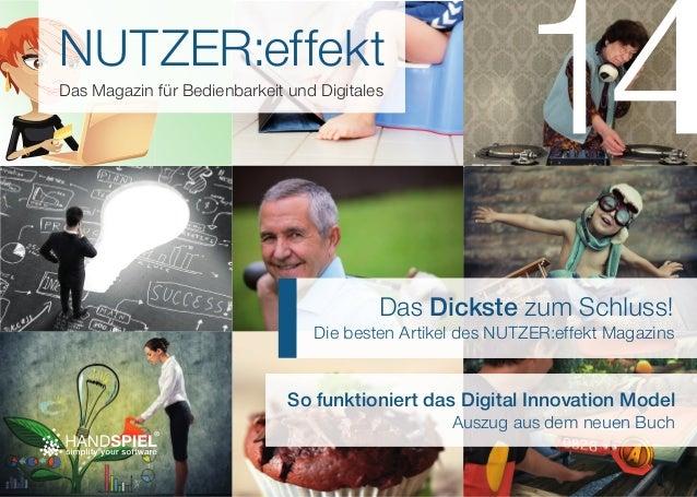 NUTZER:effekt  Das Magazin für Bedienbarkeit und Digitales  Das Dickste zum Schluss!  Die besten Artikel des NUTZER:effekt...
