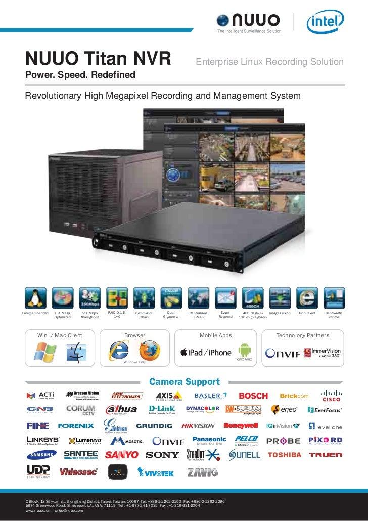 NUUO Titan NVR                                                                                Enterprise Linux Recording S...