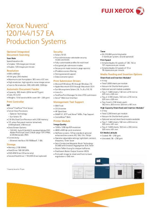 Xerox Nuvera 120 Printer PCL6 Drivers Download
