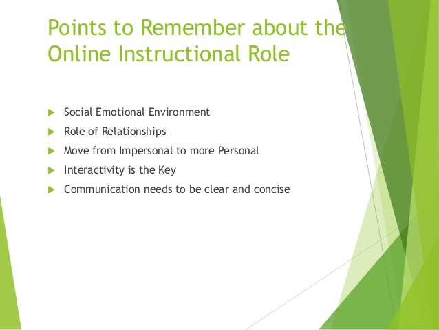 Online Instructor Roles