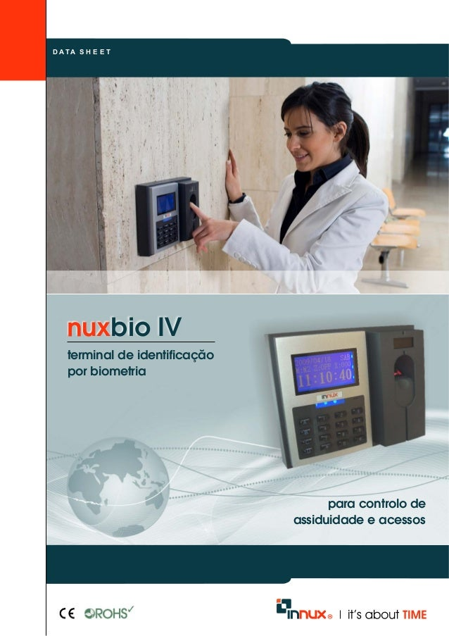 D A TA S H E E T  bio IV  terminal de identificação  para controlo de  assiduidade e acessos  por biometria