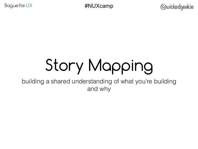 Baguette UX @wickedgeekie#NUXcamp Story Mapping building a shared understanding of what you're building and why