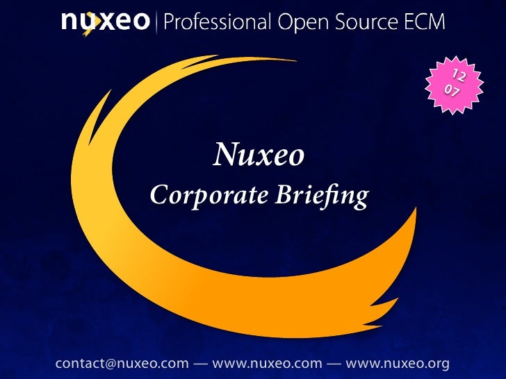 12                                                 07                        Nuxeo            Corporate Brie ng     contac...