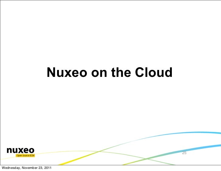 Nuxeo on the Cloud                                              25Wednesday, November 23, 2011