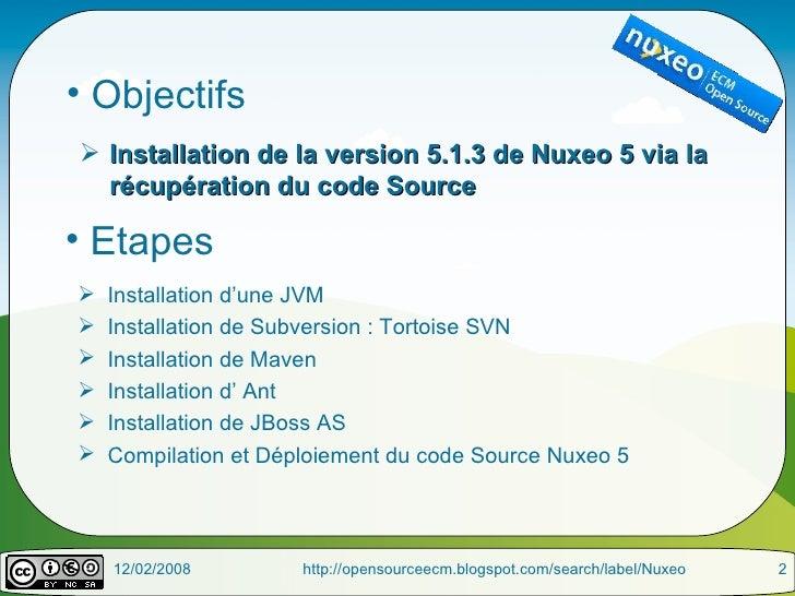 Nuxeo5 - Installation Code Source Slide 2