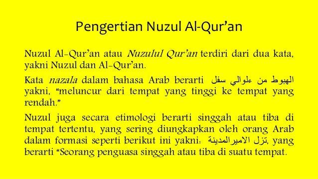 Nuzul Al Qur An Ppt