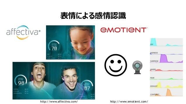 6 表情による感情認識  http://www.affectiva.com/ http://www.emotient.com/