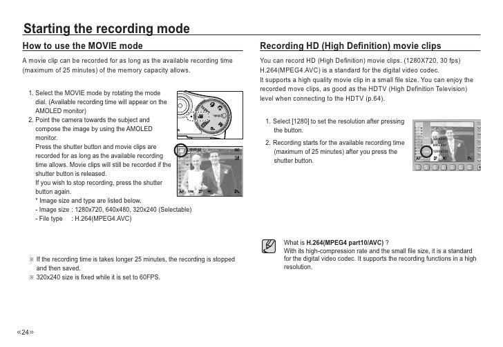 Samsung Camera NV24HD User Manual