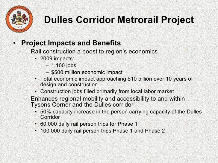 dulles corridor metrorail project Dulles corridor metrorail project office metropolitan washington airports authority tel: (703) 572-0500 project profiles home back to top back to top ifs home.