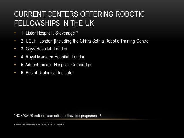 Robotic Fellowship Training in the UK