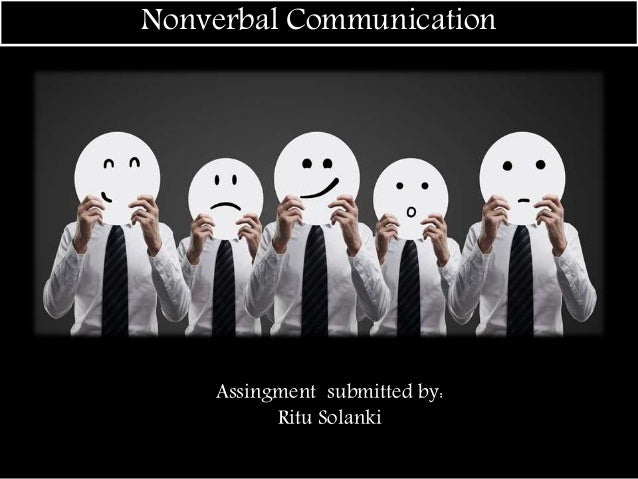 non verbal communication coursework