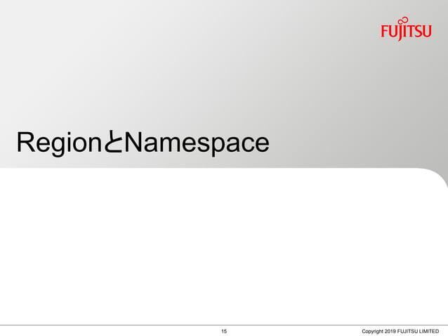 RegionとNamespace Copyright 2019 FUJITSU LIMITED15