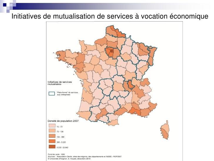 Initiatives de mutualisation de services à vocation économique