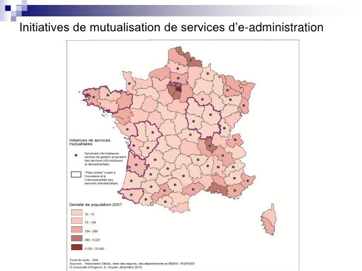 Initiatives de mutualisation de services d'e-administration