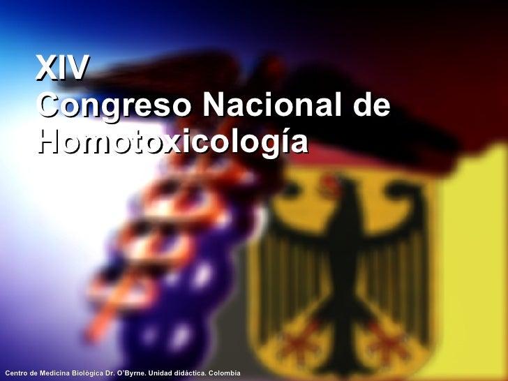 XIV Congreso Nacional de Homotoxicología