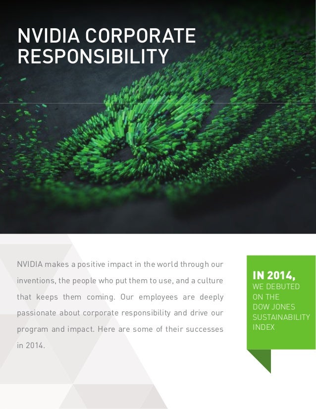 NVIDIA makes a positive impact in the world through our inventions, the people who put them to use, and a culture that kee...