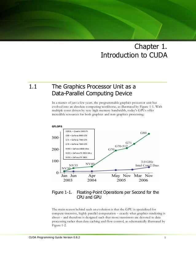 Chapter 1. Introduction to CUDA                   Control          ALU     ALU                                    ALU     ...
