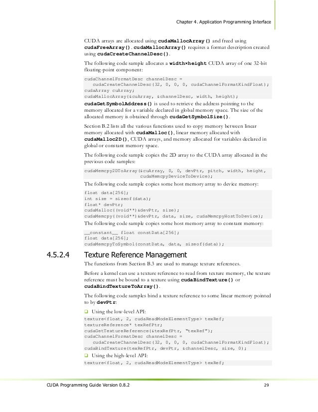 Chapter 4. Application Programming Interface                            Use the /Op or /fp compiler options of the Visual ...