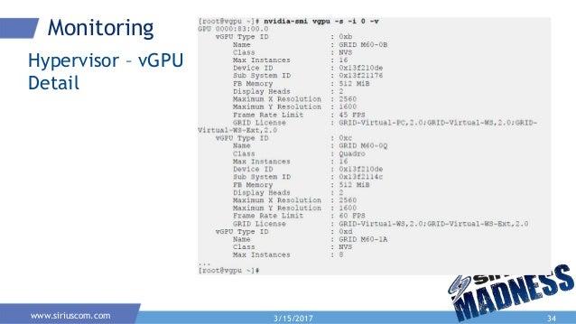 Nvidia grid and vGPU