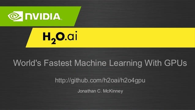 GPU Accelerated Machine Learning