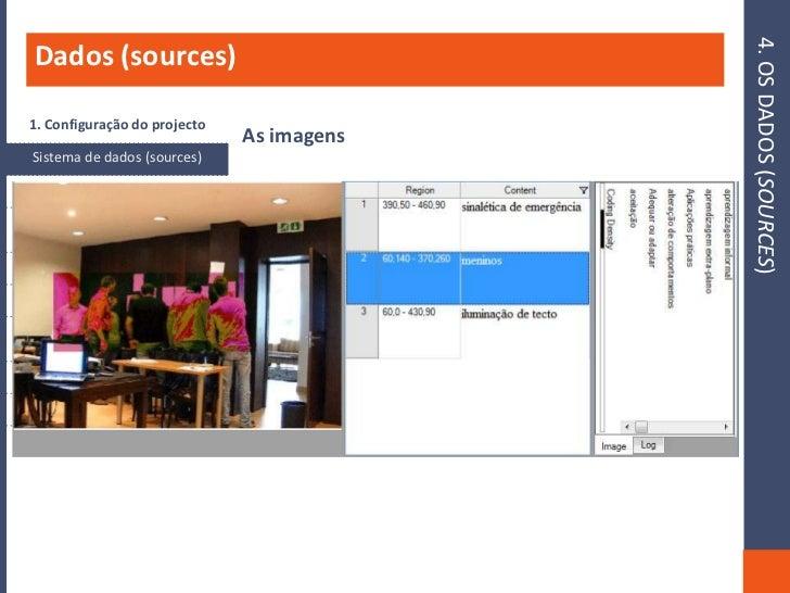 4. OS DADOS (SOURCES)    Dados (sources)    1. Configuração do projecto                                      As imagens   ...