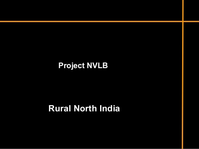 Project NVLB  Rural North India