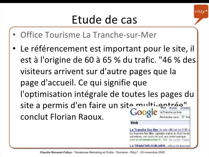 Tendances et outils marketing dans le tourisme valais suisse cours - La tranche sur mer office de tourisme ...