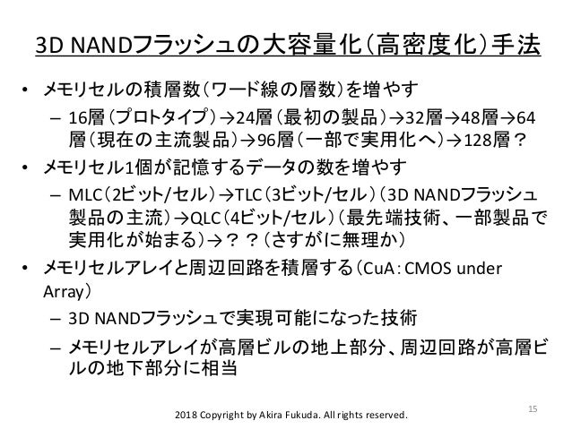 NVMCT #1 3D NANDフラッシュメモリの動向 (Trend of 3D NAND Flash Memory)